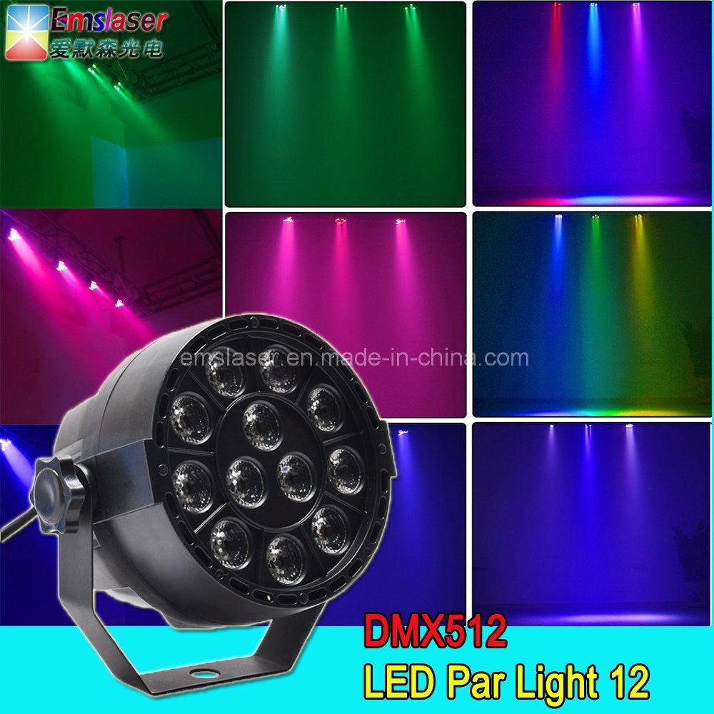 12PCS 1W LED Mini PAR Lights RGBW Stage Light Disco Party Light
