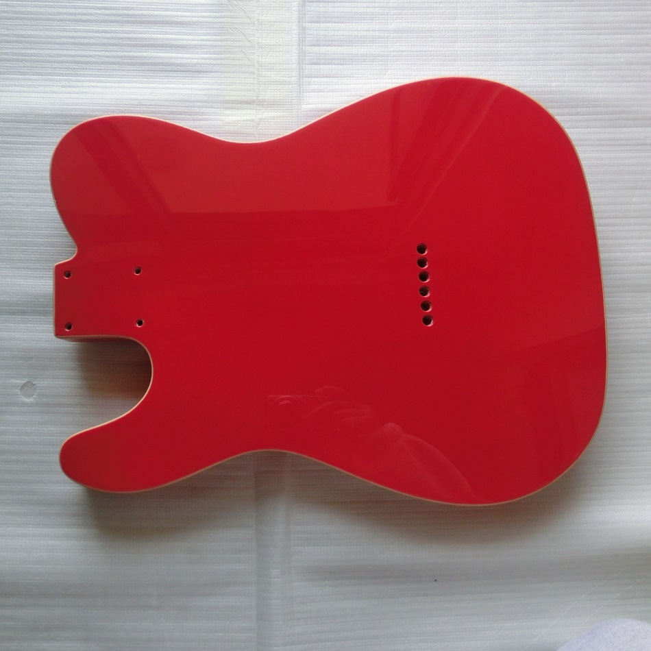 Gloss Finished Fiesta Red Tele Guitar Body with Double Binding