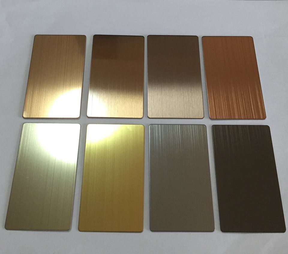 No. 4 with Lser Film PVC Stainless Steel Sheet