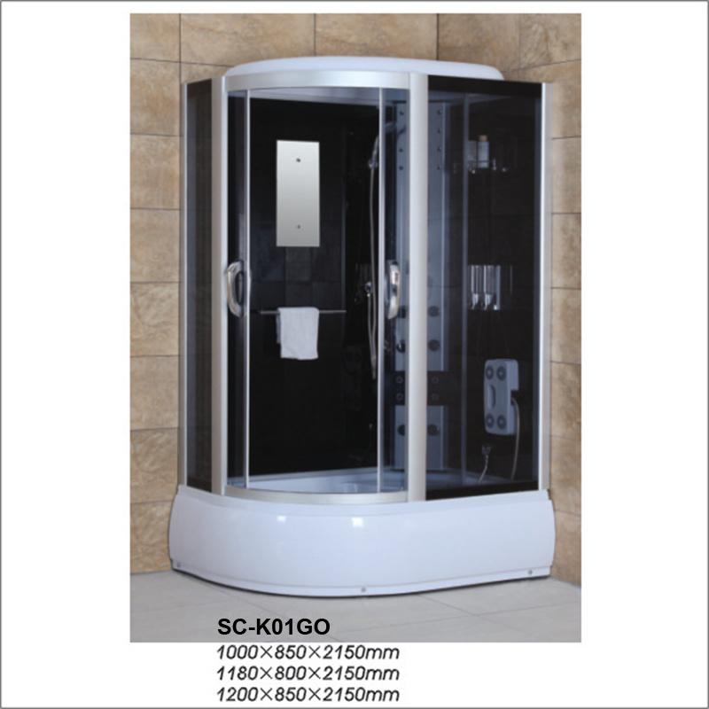 Revsible Corner Steam Shower Box with Sliding Door