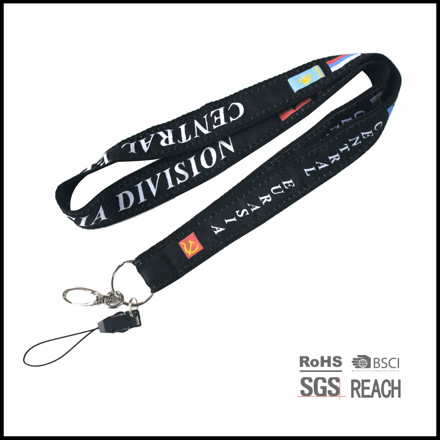 36-Inch Deluxe Nylon Neck Lanyard for Event and Keys