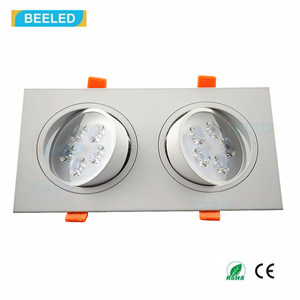 Square 10W Cool White LED Ceiling Lamp Dimmable LED Downlight