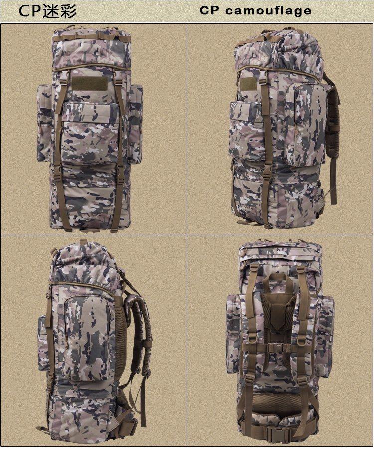 65L 1000d Bionic Nylong Tactical Military Hiking Backpack