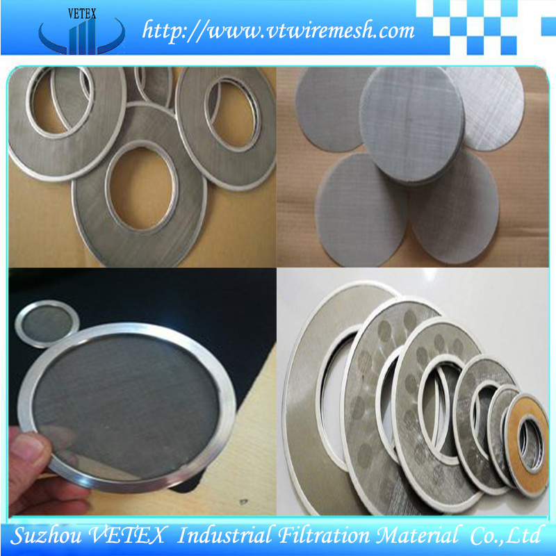 Filter Disc with Plain Weave