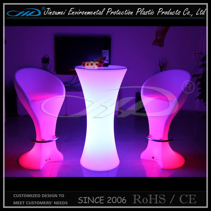 Restaurant LED Furniture Bar Table with BV