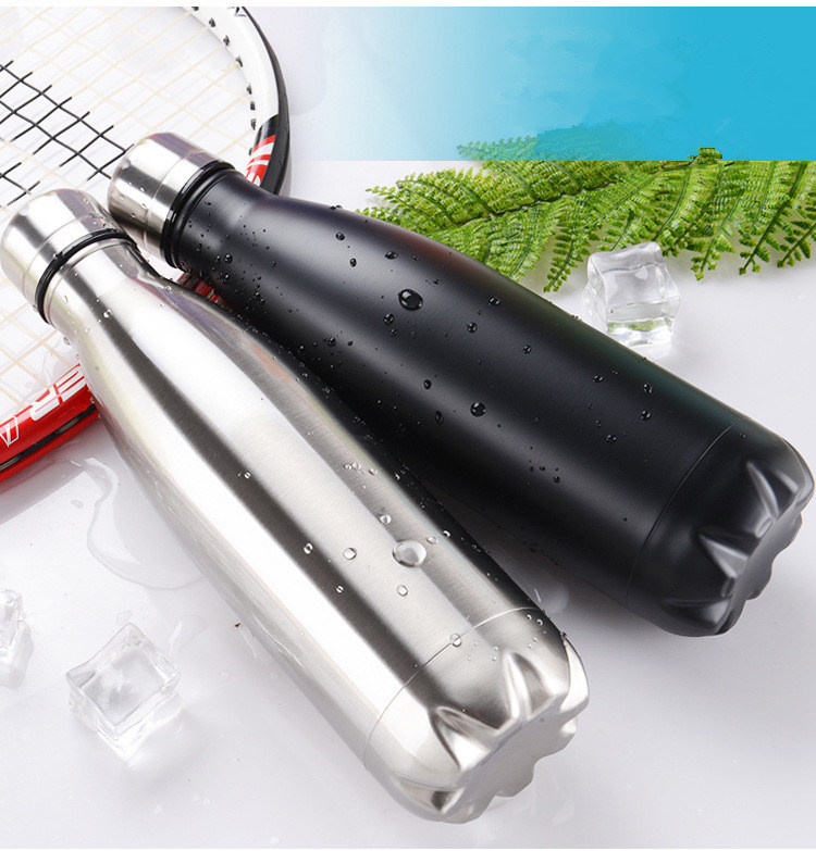 Customed Logo Vacuum Sealed Sport Stainless Steel Water Bottle