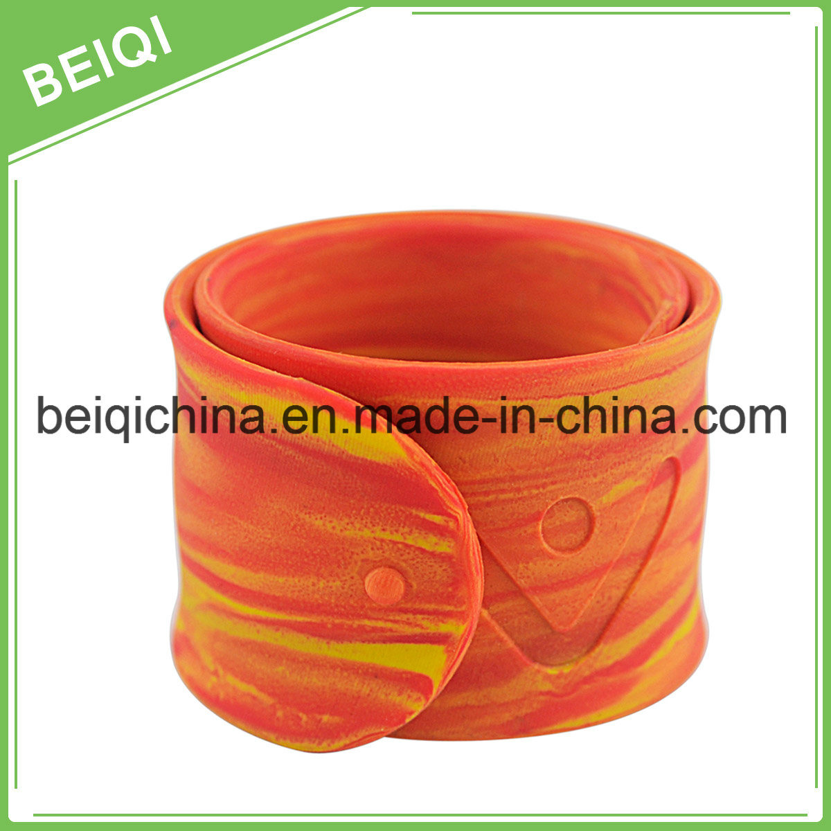 Magnetic Adjustable Silicone Bracelet with Colorfilled