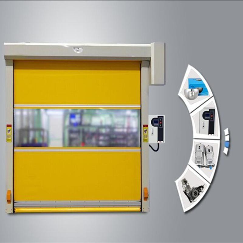 Flexible PVC High Speed Rapid Rolling Industrial Door