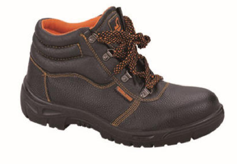 Safety Work Protection Leather Footwear with Steel Toe