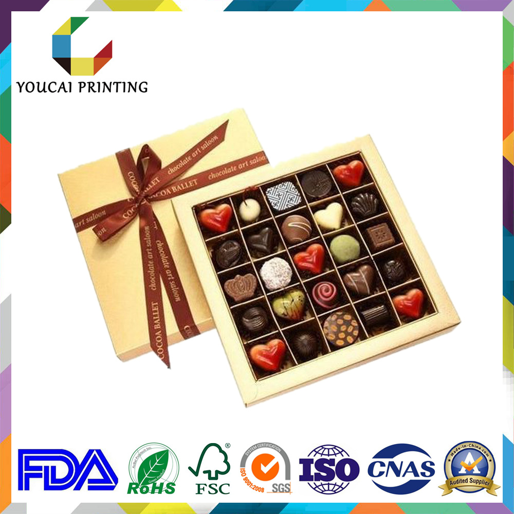 OEM Luxury Cardboard Gift Chocolate Box with Inner Tray
