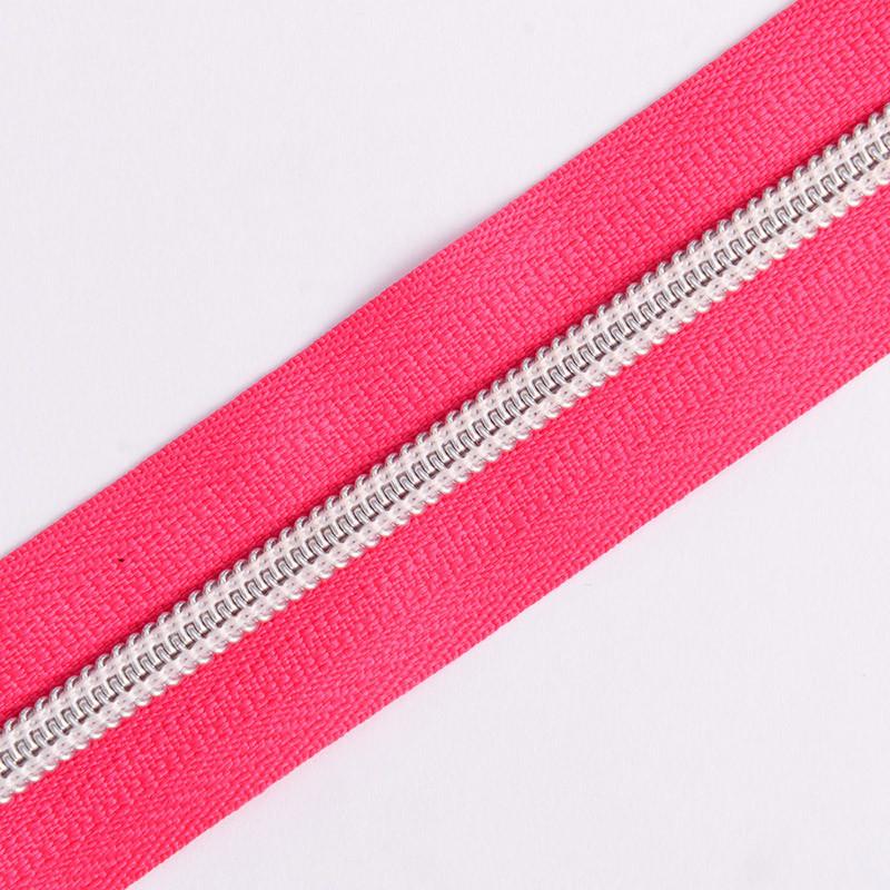 No. 5 5# Nylon Zipper Silver Teeth Long Chain