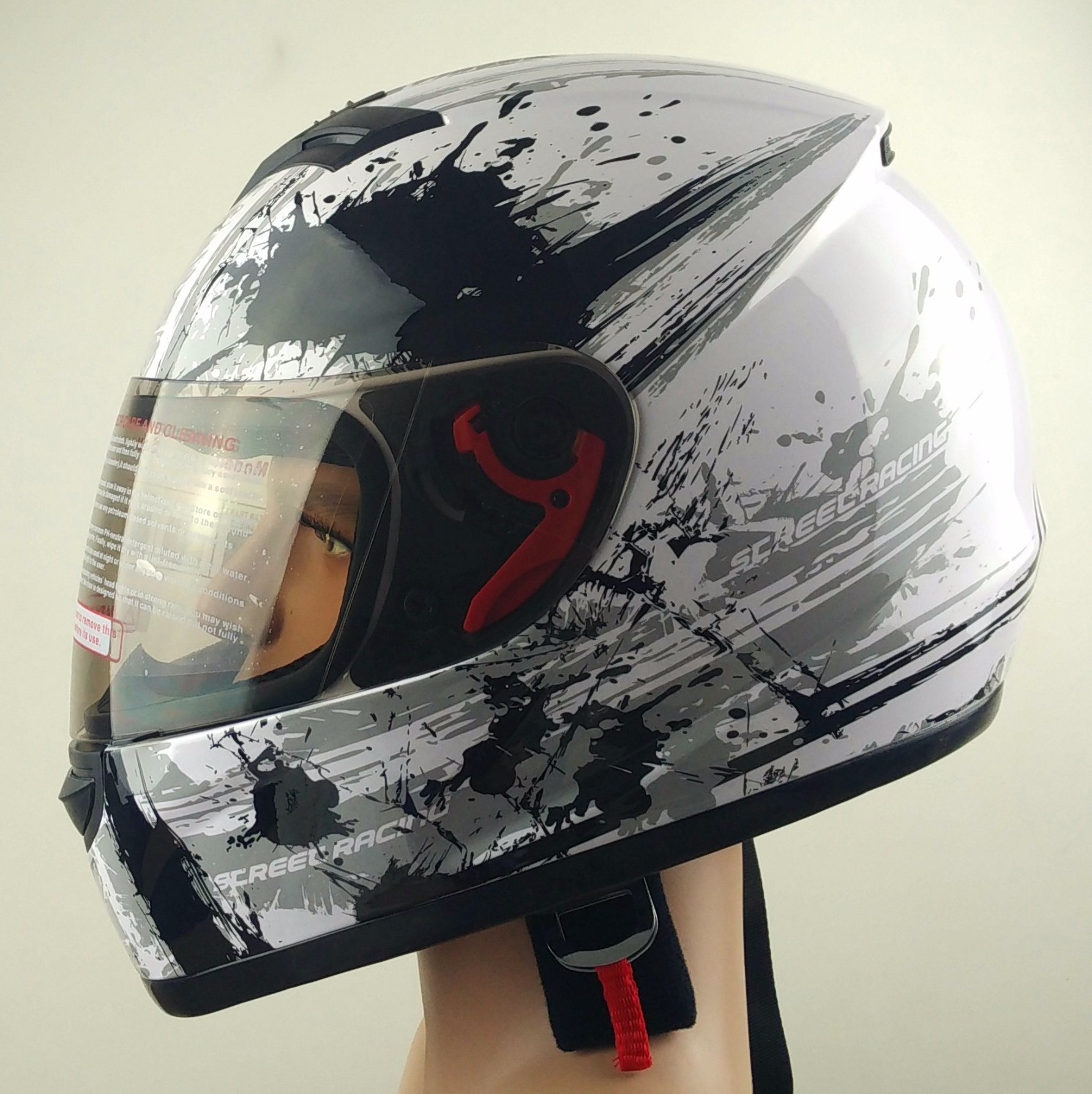 Safe Helmet for Motorbike with Graphics