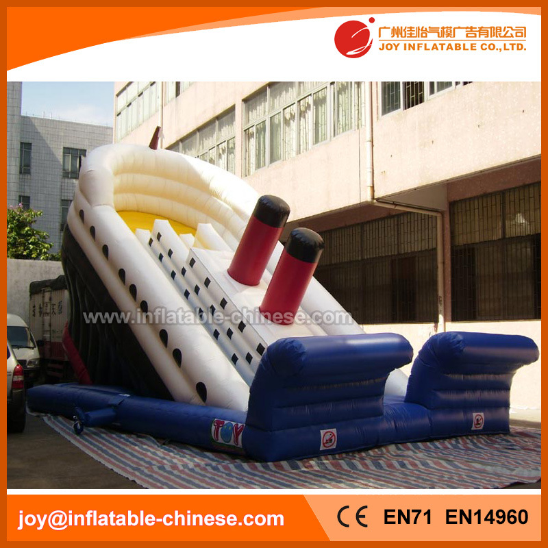 Titanic Boat Bouncy Slide Inflatable Slide for Amusement Park (T4-401)