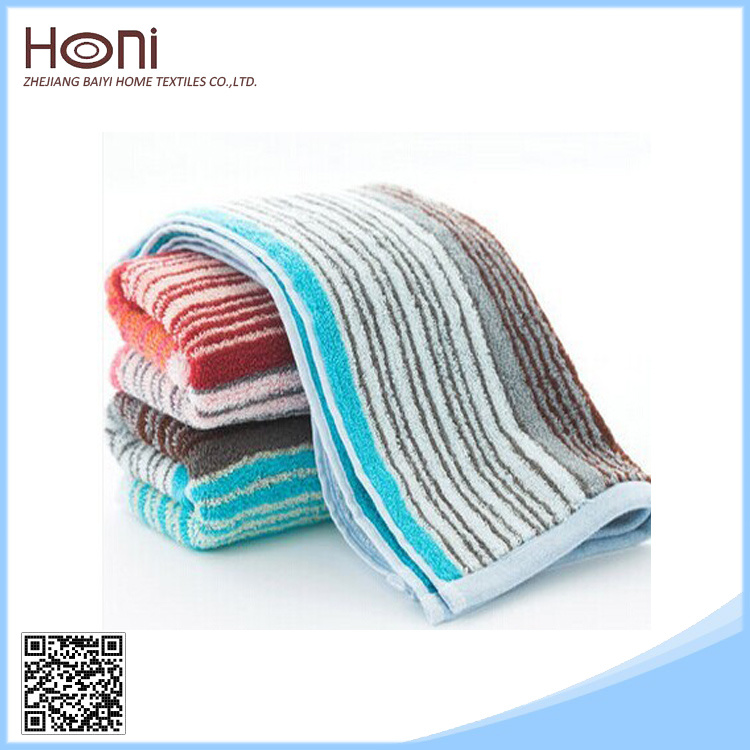 T-075 100% Cotton Striped Cotton Face/Hand Towels