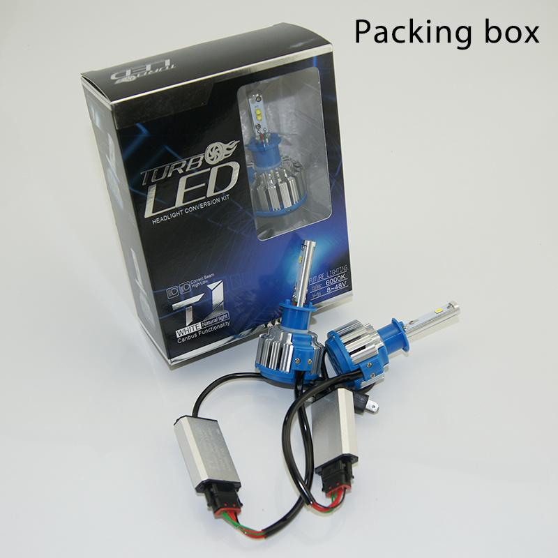 Professional Manufacturer 30W T3 9006 Auto LED Headlight Bulb