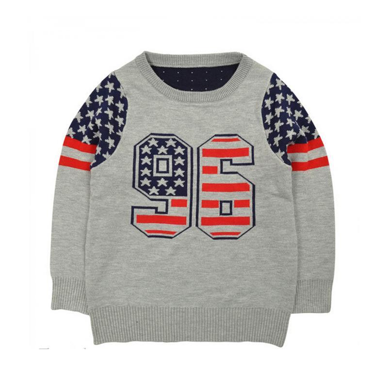 Children Kid Sweater Girls Intarsia True Knitted Sweater