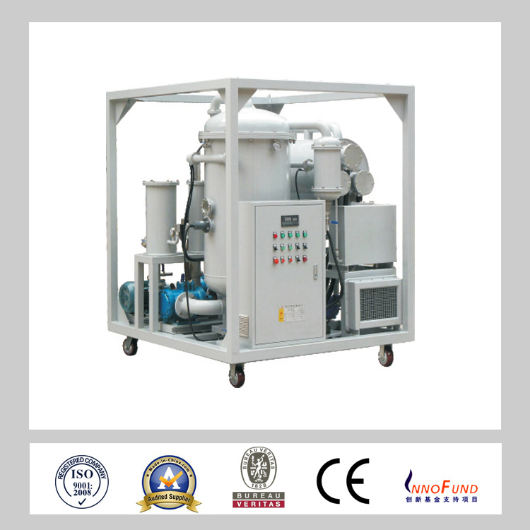 Hermetical Style No Noise Vacuum System High Efficiency off Water Content Lubricating Oil Purifier Machine /Turbine Oil Filtration (ZRG)