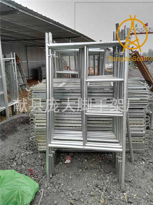 China SGS Width1.219m Galvanised Layher Frame Scaffold