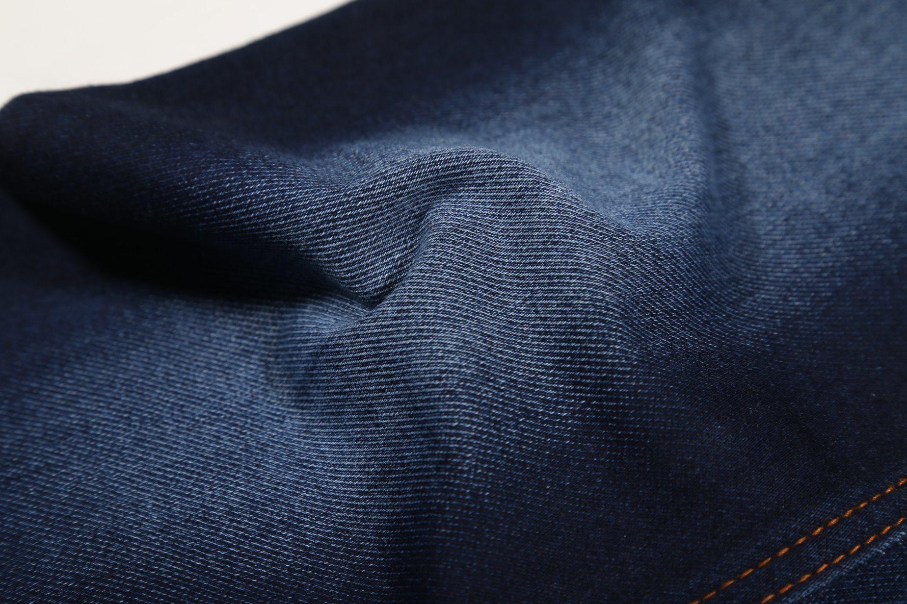 Indigo Color, Super Soft Wearing Terry Denim fabric