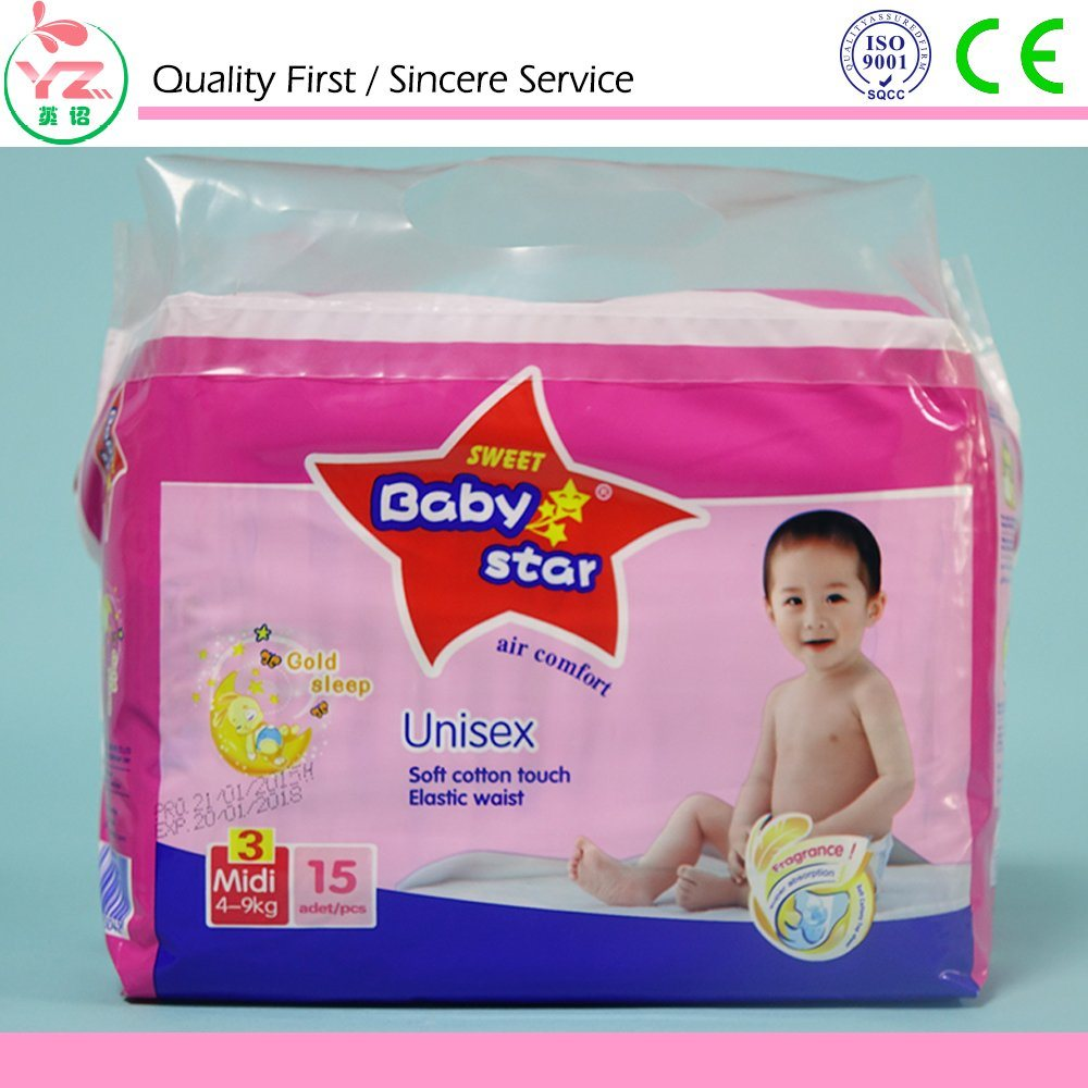 Cloth-Like Back Sheet High Absorption Baby Diaper