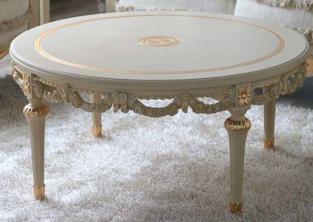 French Round Coffee Table French Style Round Coffee