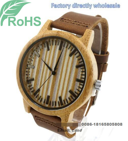 Fashion Wrist Watch Wooden Watch Men′s Women′s Quartz Watch