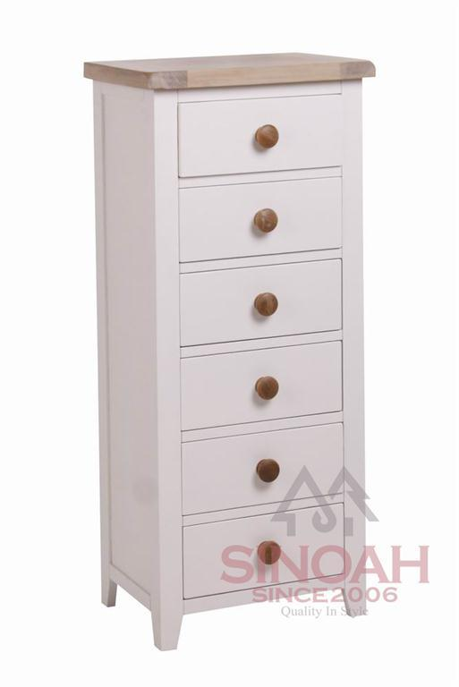 China painted oak top drawer wellington wooden furniture