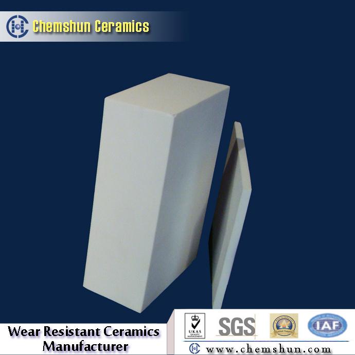 Anti-Wear Resistant High Alumina Ceramic Lining Brick From Ceramics Supplier