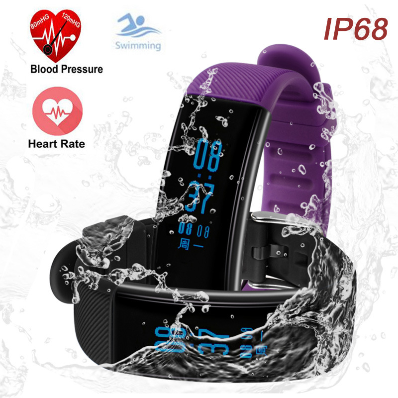 IP68 Waterproof Smart Bracelet Heart Rate Monitor