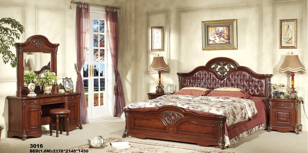 wooden antique home furniture bedroom set china bed bedroom set