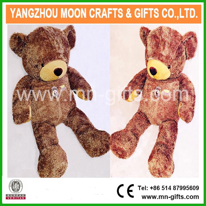 Shiny Brown Plush Bear 160cm Tall Giant Teddy Bear
