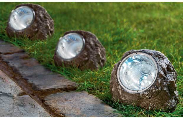 Rock Lights For Garden Real Rock Lights For Pond And Garden Outdoor Solar Rock Light White