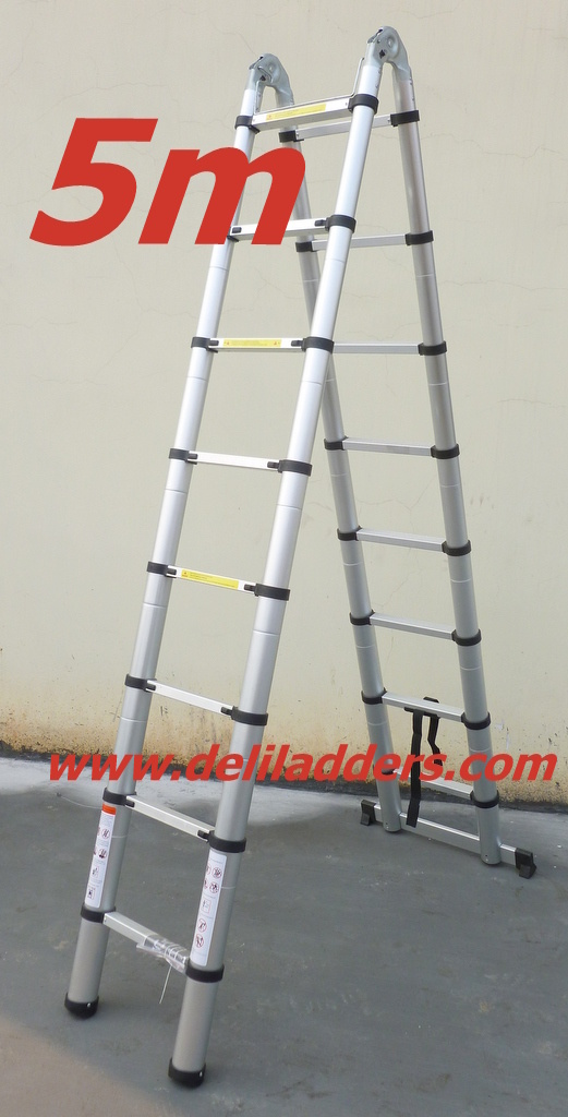 3 position telescopic ladder 5m 3 position telescopic ladder 5m fournis par yongkang yongan. Black Bedroom Furniture Sets. Home Design Ideas