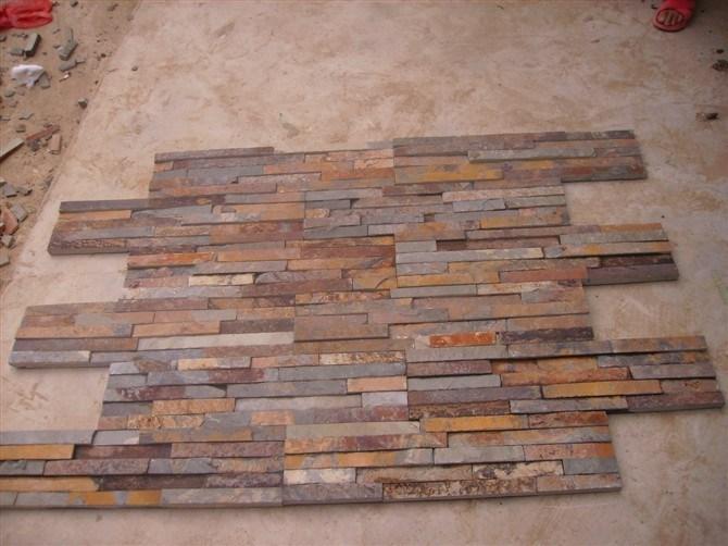 Piedra oxidada del revestimiento de la pared de la pizarra - Piedra pizarra oxidada ...