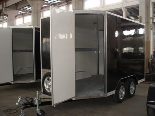 Enclosed Cargo Trailer V Shape with Side Door (GW-BLV12X6X7)