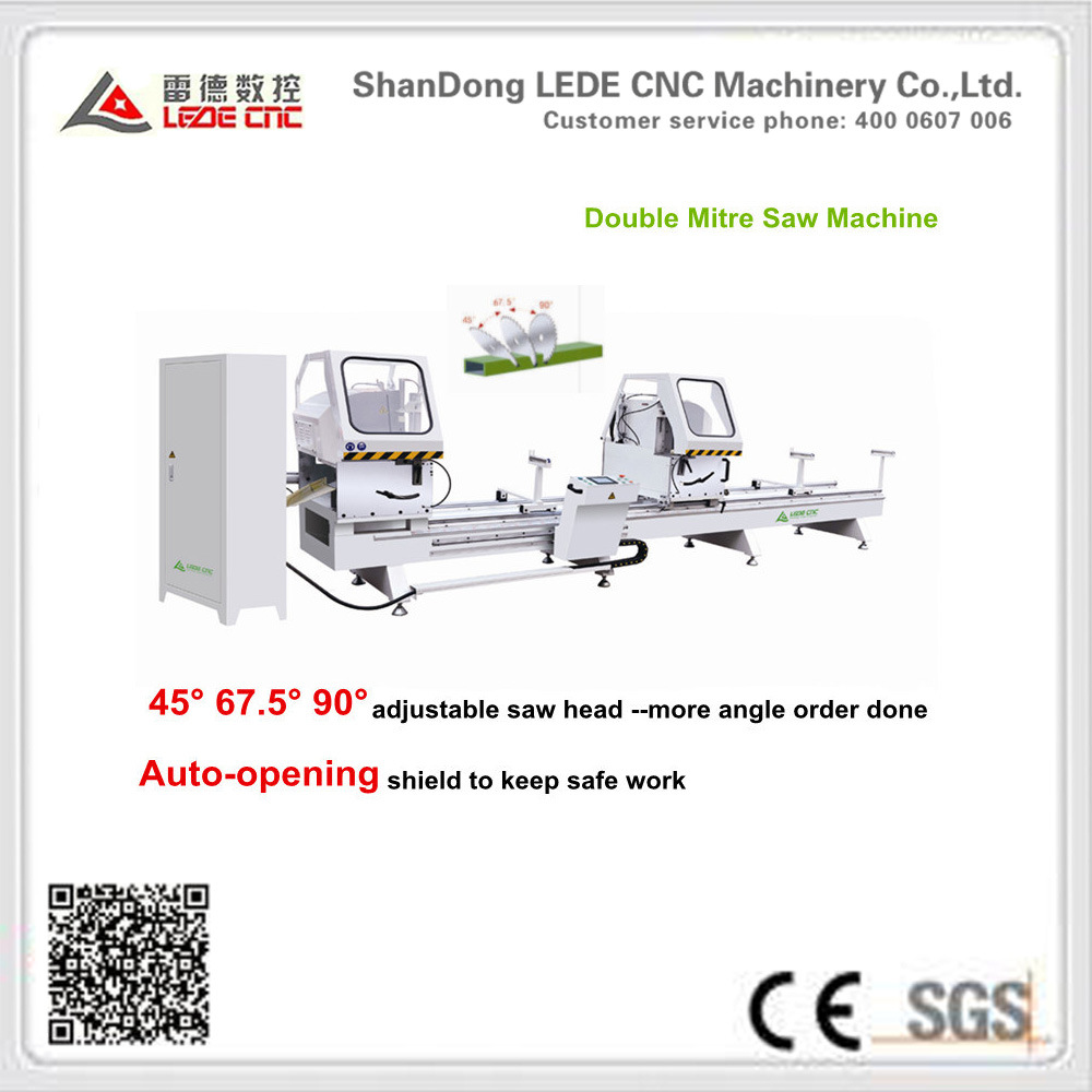Double Mitre Cutting Machine 45 67.5 90 Degree for Aluminum Window