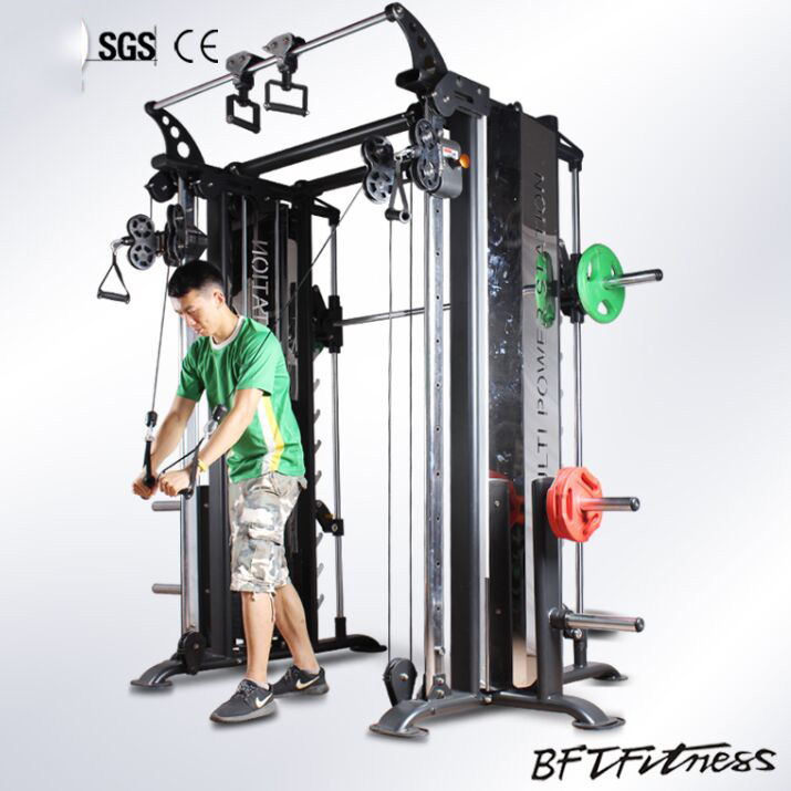 Multi Cable Crossover Gym Machine/Power Rack Smith Machine