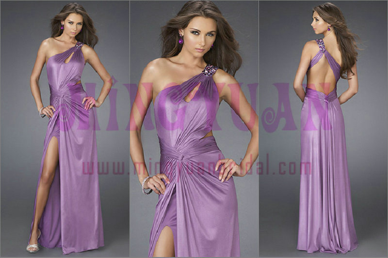 One-Shoulder Chiffon Sexy Evening Dress (EE178)