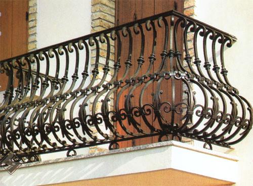 China wrought iron balcony ornamental