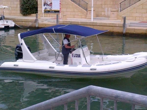 Liya 22 Feet PVC Inflatable Rib Boat with Outboard Motor