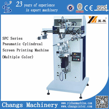 Spc Series Cylinder Screen Printer for Plastic Bottles