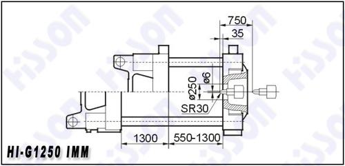 1250t Horizontal Plastic Injection Molding Machine Hi-G1250