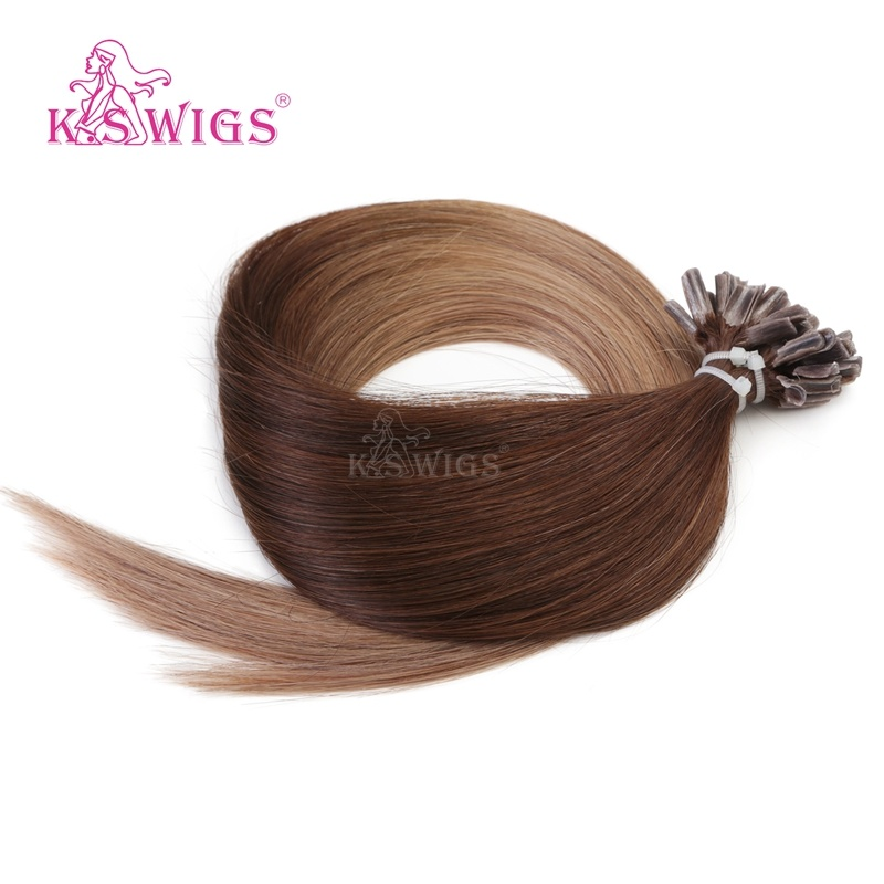 K. S Wigs Top Grade U Tip/ Nail Hair Keratin Hair Indian Remy Hair Human Hair Extension