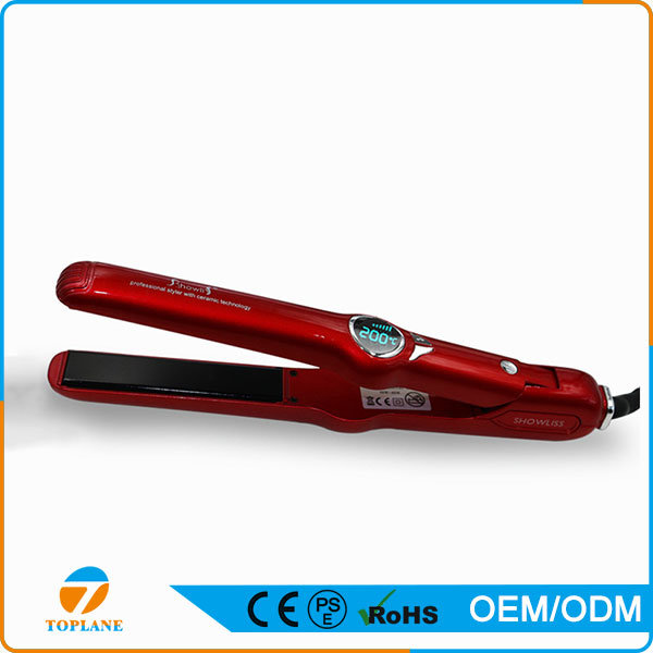Professional Fast Flat Iron Electric Hair Straightener with LCD