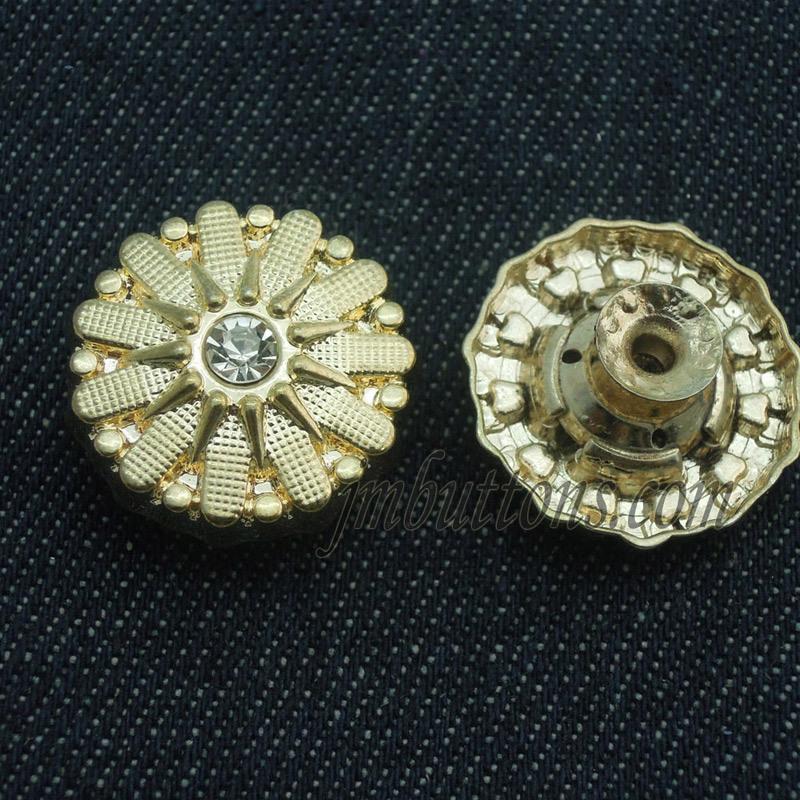 Custom Rhinestone Elegant Remove Metal Buttons