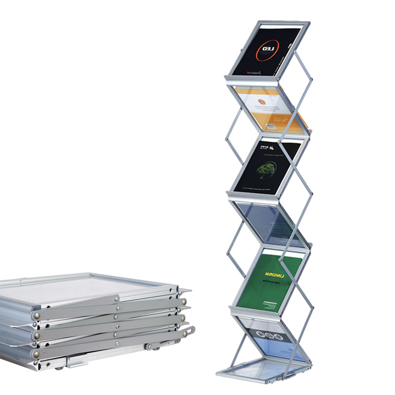 Collapsible A4 Brochure Stand Foldaway Poster Stand