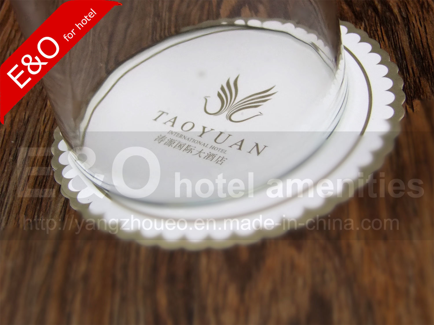 Absorbent Hotel Paper Coaster, Hotel Tissue Paper Disposable Coaster, Paper Cup Lid
