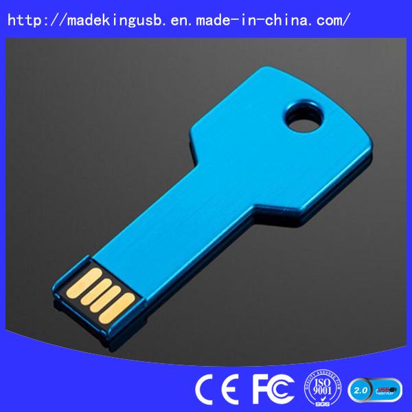 Metal Key Shape USB Flash Drive (USB 2.0/3.0)