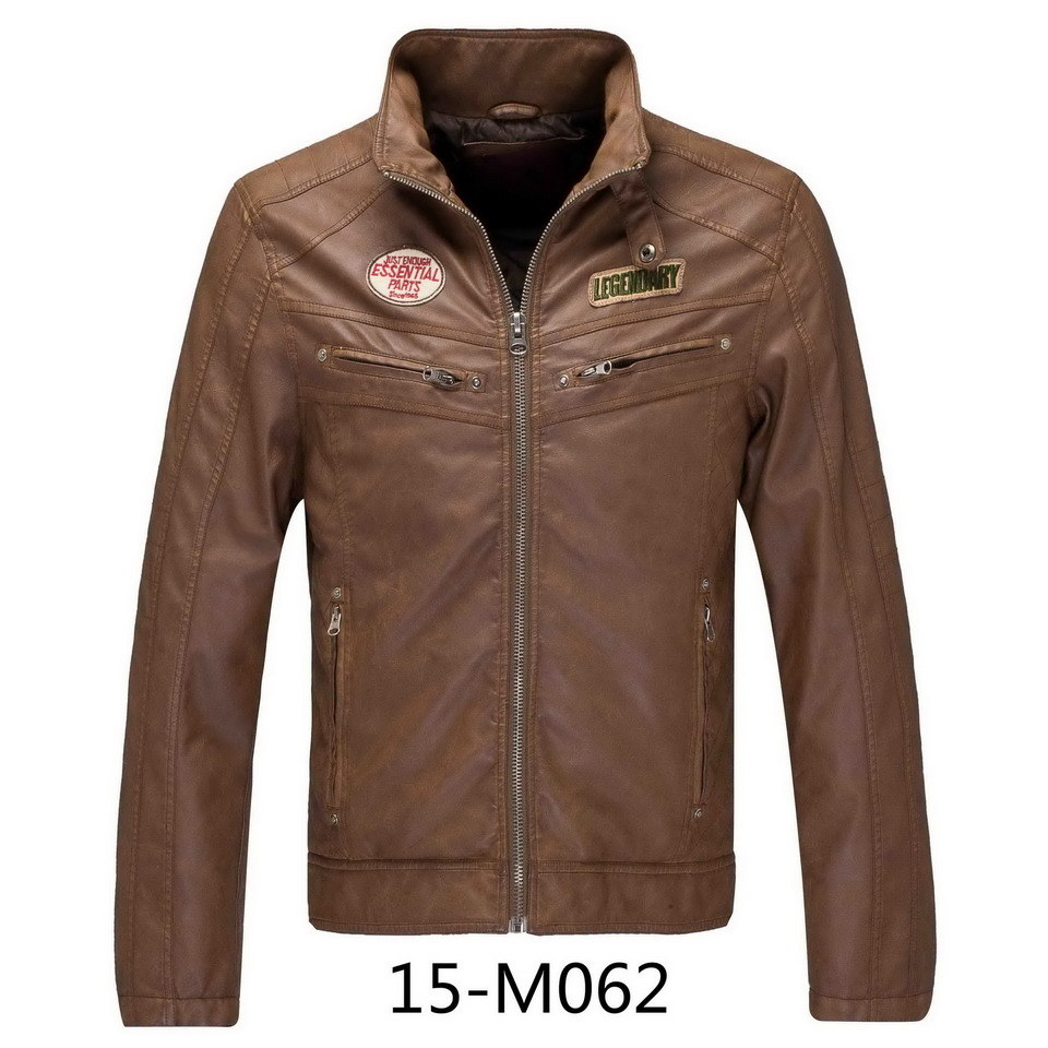 Men′s PU Leather jacket (15-M062)