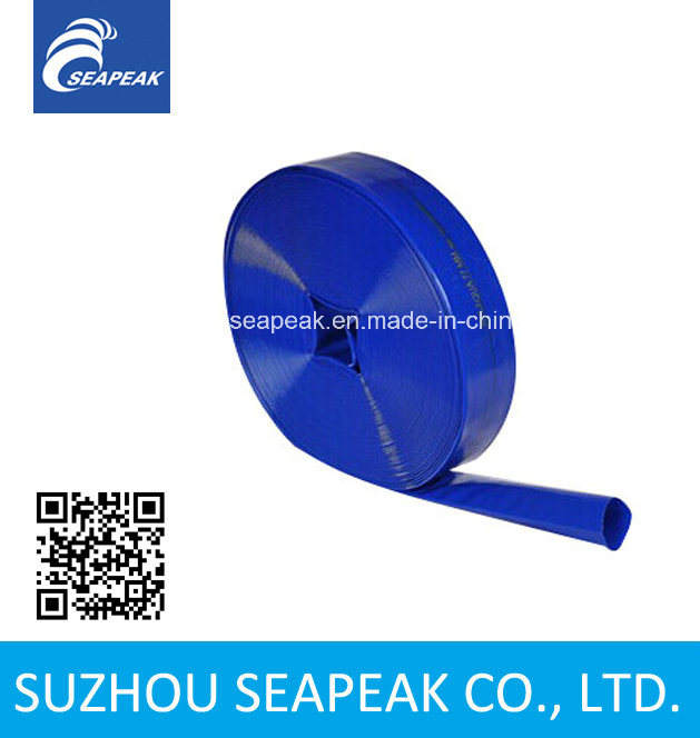 "1""-10"" Blue PVC Layflat Water Irrigation Hose"